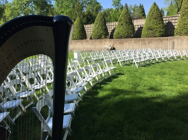 Outdoor Wedding Ceremony Harpist