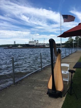 Traverse City Wedding Harpist Beach Ceremony Music