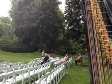 Midland Michigan Harpist Dow Gardens Wedding